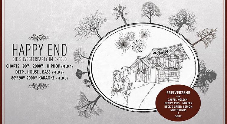 Happy End Silvesterparty im e-feld Köln am 31-12-2017