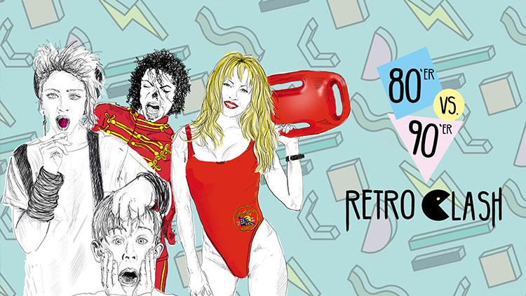 Retro Clash 80er vs. 90er Party im Gloria Theater am 14.10.2017