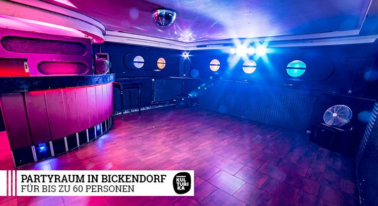 Partyraum in Köln Bickendorf für bis zu 60 Personen