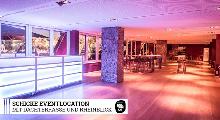 Eventlocation mit Dachterrasse und Rheinblick in Köln