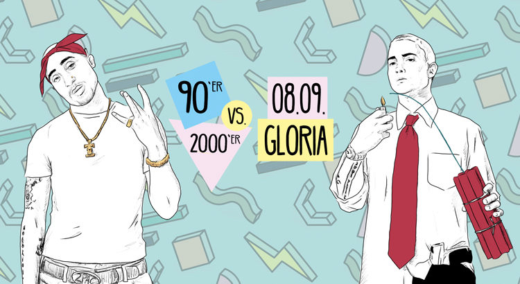 Retro Clash Köln Gloria 90er vs. 2000er 08.09.2018