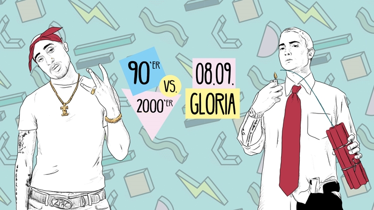 Retro Clash Köln Gloria 90er vs. 2000er 08.09.2018