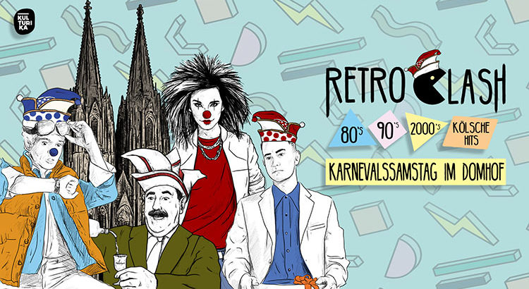 Retro Clash Karneval Köln Party im Domhof 02-03-2019