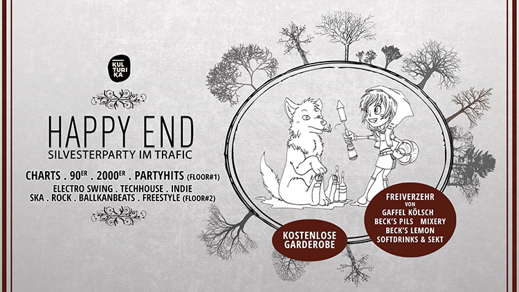 Happy End Silvesterparty Köln 2019 im Club trafic