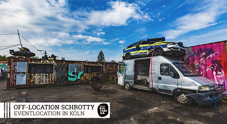 Off-Location Köln - Schrotty mieten - Die Open-Air Outdoor in Ehrenfeld